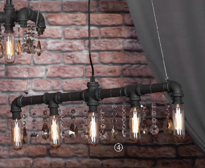 дизайнерский светильник в стиле лофт
